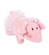 Мягкая игрушка свинка с бусами в юбке 15 см Teddy toys 19857