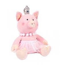 Мягкая игрушка свинка принцесса с короной 22 см Teddy toys 19925