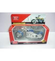Металлическая модель мотоцикл чоппер 14 5 см Технопарк 1297170-R