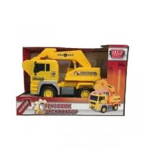 Машина пласт грузовик экскватор горстрой 1:20 Технопарк
