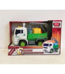 Машина пласт грузовик с манипулятором Технопарк