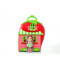 Кукла Шарлотта Земляничка 15 см с домом и аксессуарами 12267
