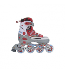 Раздвижные роликовые коньки серо красные размер l 40 43 Trans Roller Х31857