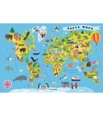 Trefl карта мира 100 деталей 15527