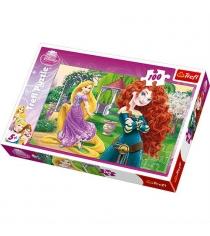 Trefl веселые принцессы100 элементов 16199
