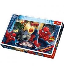 Trefl человек паук сражается с недругами100 элементов 16259