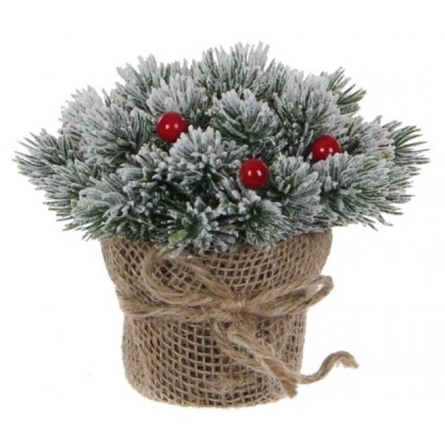 Декоративный букет Triumph tree сосна с ягодами заснеженный