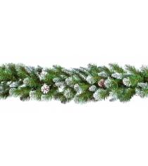 Новогодняя гирлянда декор Triumph Императрица с шишками 180x33 см заснеженная
