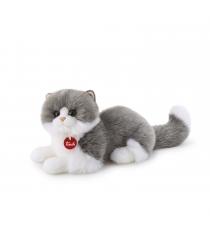 Trudi Серо белая кошка Клотильда лежачая 20742