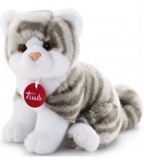 Trudi Котёнок Брэд серо-белый 24см 20851