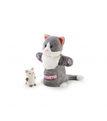 Мягкая игрушка на руку Trudi Кошка с котенком 28см 29993