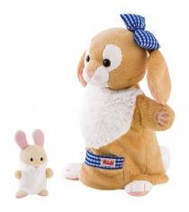 Мягкая игрушка на руку Trudi Зайчиха с зайчонком 28см 29994