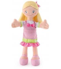 Мягкая кукла Trudi в розовом платье с бантом 30см 64426