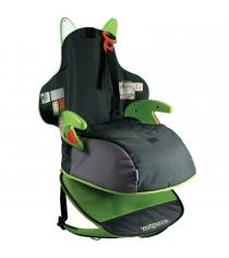 Детский рюкзак автокресло Trunki Boostapak черно зеленое 0041-GB01-P1