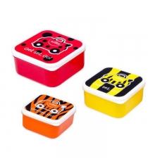 Набор из 3 контейнеров для еды Trunki Божья коровка пчела тигр 0299-GB01