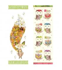 Набор закладок для книг Turnowsky Лиса и Совы BKDU101