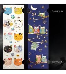Закладки для книг Turnowsky Коты и Совы ночью BKDU102