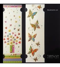 Закладки для книг Turnowsky Букет сердец и Бабочки BKDU108