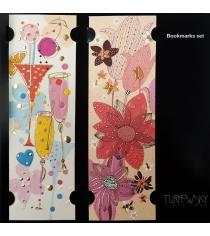 Набор закладок Turnowsky Вечеринка и Красные цветы BKDU110