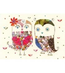 Мини открытка Turnowsky Две совы 7.8 см MD5859