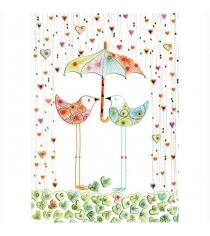 Открытка Turnowsky Две птички под зонтиком MO5809