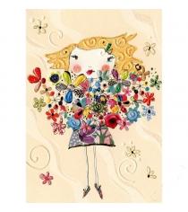 Открытка Turnowsky Девочка с цветами MO5897