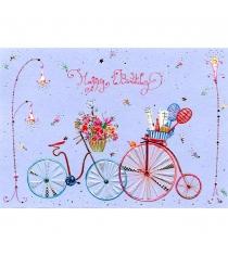 Открытка Turnowsky Happy Birthday Два велосипеда MO6190V1