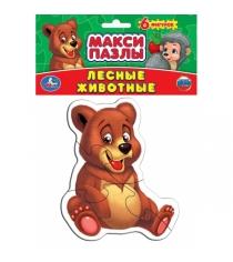 Макси пазл лесные животные медведь 4 элемента Умка