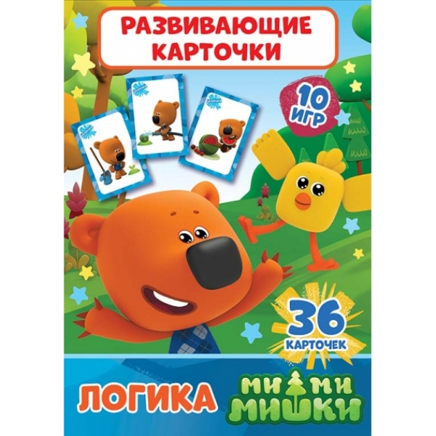 Развивающие карточки мимимишки логика 36 шт Умка 4690590137680