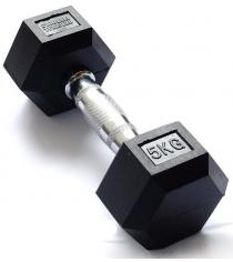 Гантель гексагональная Original Fit.Tools 5 кг FT-HEX-05