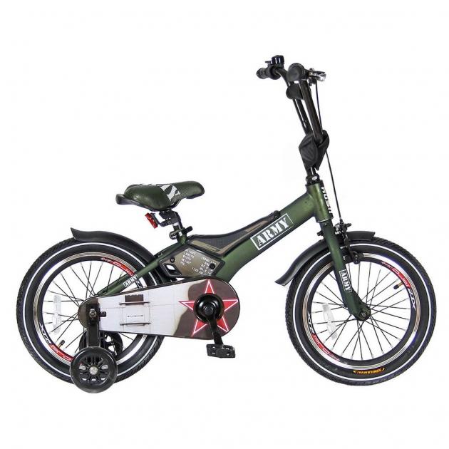 Велосипед 2х колесный Velolider 16 rush army хаки 5530
