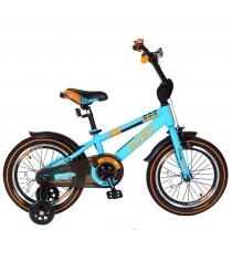 Велосипед 2х колесный Velolider 16 rush spoRT бирюзовый 5532