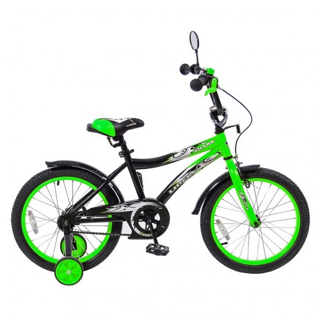 Велосипед 2х колесный Velolider 18 lider shark зеленый 5538