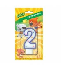 Свеча для торта мимимишки цифра 2 SVC-2-MMM