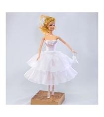 Одежда для кукол белое платье с аксессуарами Виана 11.047