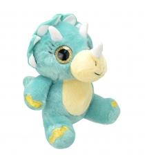 Мягкая игрушка динозавр трицератопс 19 см Wild planet K7866...