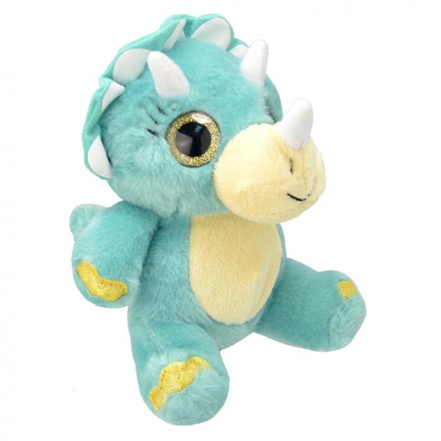 Мягкая игрушка динозавр трицератопс 19 см Wild planet K7866