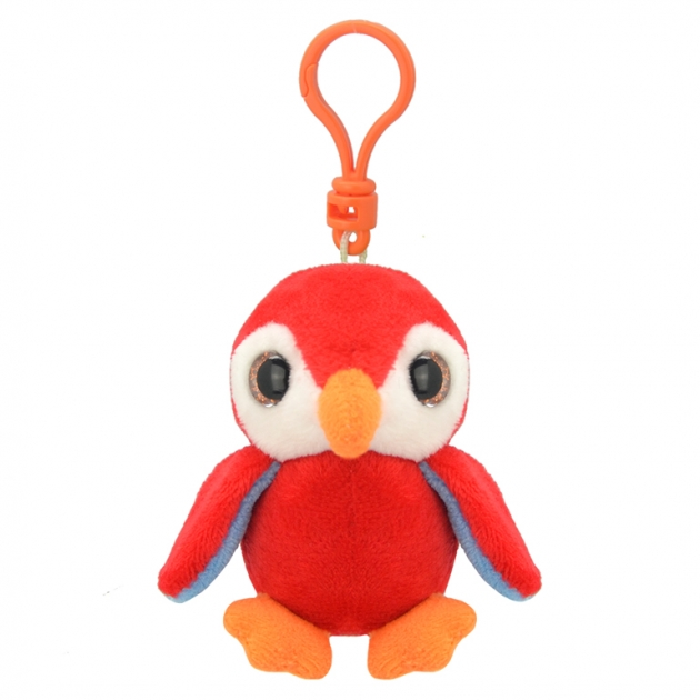 Мягкая игрушка брелок попугай 9 см Wild planet K8180