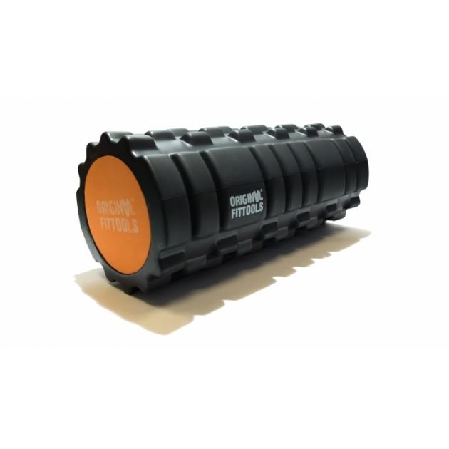 Цилиндр массажный 33x14 см черный двойной