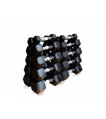 Набор гексагональных гантелей от 1 до 10 кг Original Fit.Tools FT-HEX-SET-110