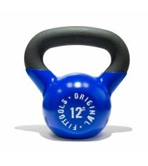 Обрезиненная гиря 12 кг синяя Original Fit.Tools FT-K12-B