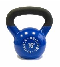 Обрезиненная гиря 16 кг синяя Original Fit.Tools FT-K16-B