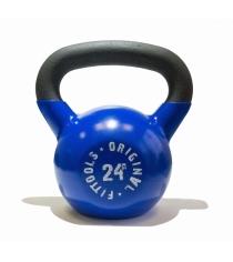 Обрезиненная гиря 24 кг синяя Original Fit.Tools FT-K24-B