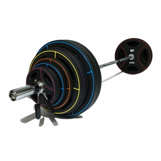 Штанга олимпийская Original Fit Tools  диски TPU 180 кг