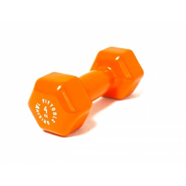 Гантель в виниловой оболочке 4 кг оранжевый