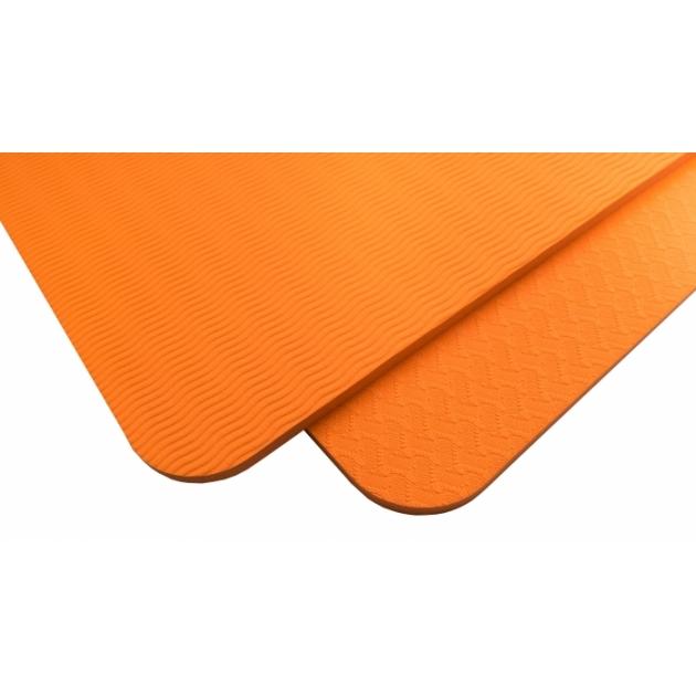 Мат для йоги 8 мм однослойный оранжевый