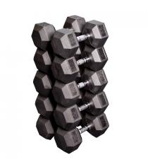 Набор гексагональных гантелей: 5 пар от 24.75 кг до 33.75 кг шаг 2.25 кг Body-Solid SDRS650