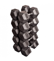 Набор гексагональных гантелей от 36 кг до 45 кг Body Solid SDRS900