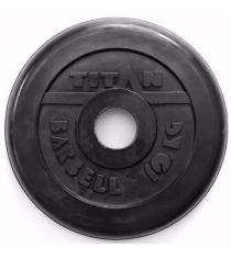 Обрезиненный диск Titan d 51 мм 10 кг TP51-10