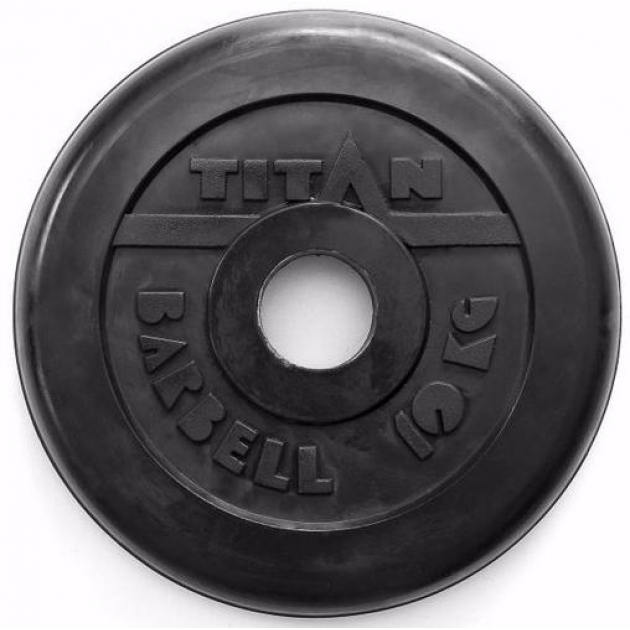 Обрезиненный диск Titan d 51 мм черный 10 кг